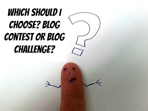 Blog contests compared with blog challenges