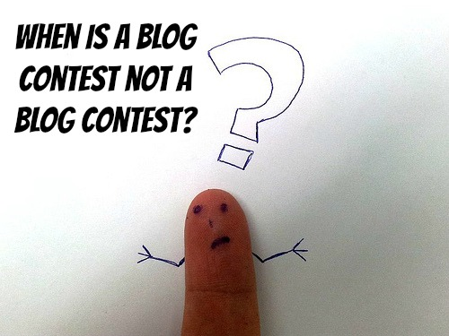 When is a blog contest not a blog contest?