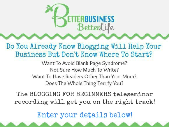 Blogging For Beginners Teleseminar Registration