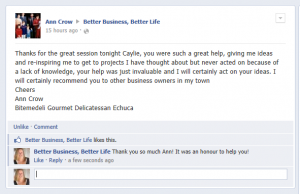 Better Business Better LifeTestimonial - Ann Crow