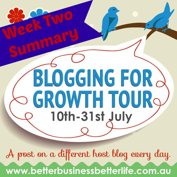 Follow the 21 day Blogging For Growth tour to power up your blog and grow your business