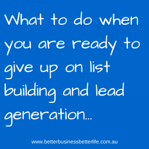 Improve Your List Building And Lead Generation