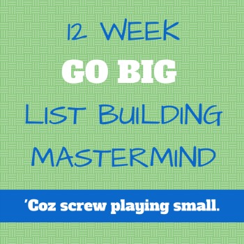 Go Big List Building Mastermind list building traffic