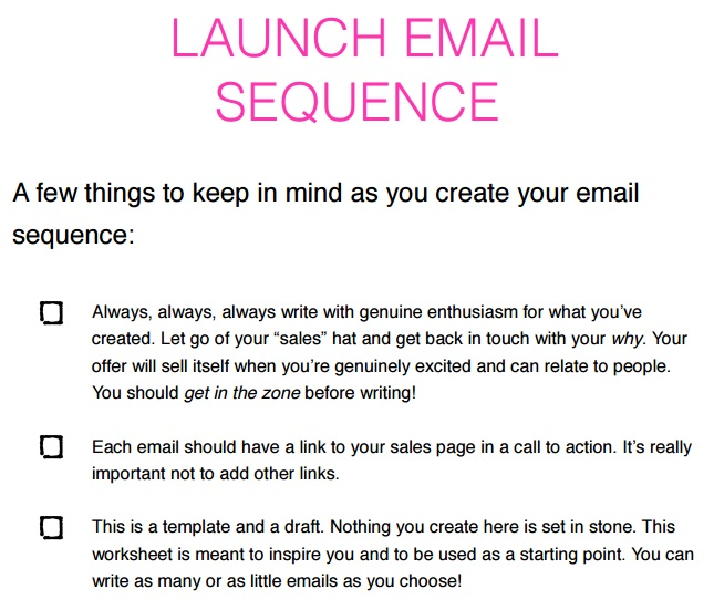 Email Marketing Tips Around Creating Your Launch Sequence