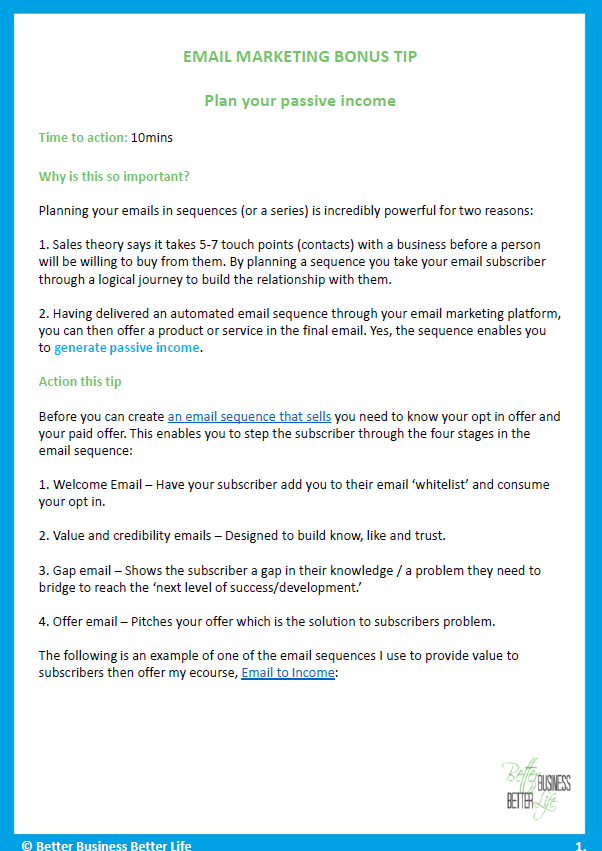 Email Marketing Bonus Tip