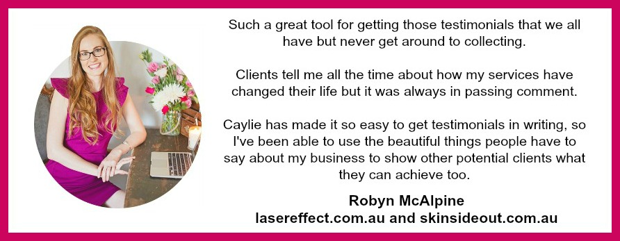 Robyn Testimonials Kit Pink