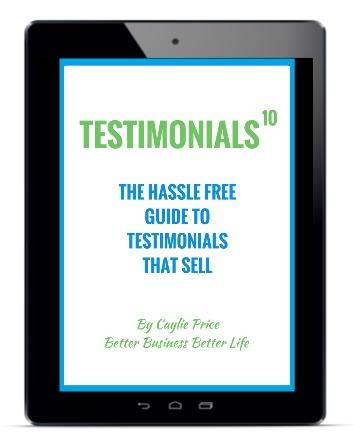 Testimonials in iPad
