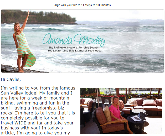 Amanda Moxley says to step away from the stock photo in email marketing