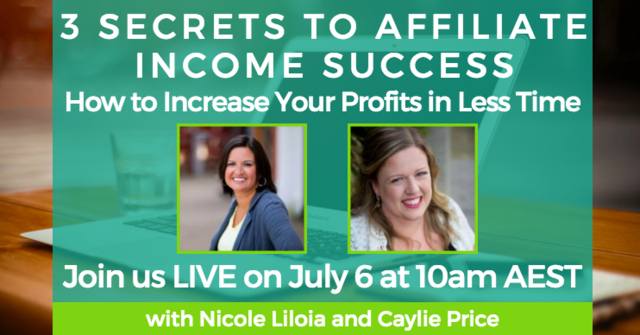 Free training: 3 Secrets To Affiliate Income Success