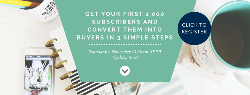 Get 1,000 subscribers and convert them into buyers in three simple steps