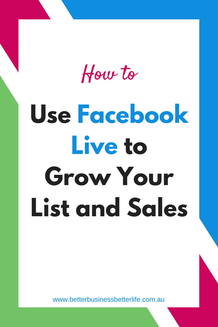 Facebook Live is a powerful tool when it comes to growing your list (which can mean growing sales, too!) Use these tips to get you started -