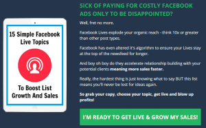 Increase sales with Facebook Live without paying for Facebook Ads.