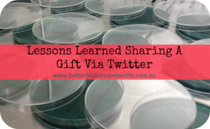 Lessons Learned Sharing A Free Gift Via Twitter