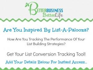 List-A-Palooza List Conversion Tracking Tool