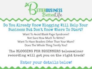 Blogging For Beginners Teleseminar Registration