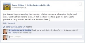Better Business Better Life Testimonial Renee Wallace